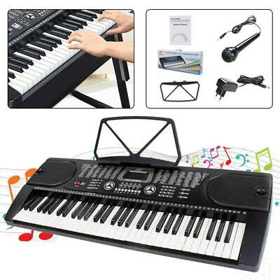 61 Leucht Tasten Keyboard E-Piano Lern Klavier 255 Sounds & Rhythmen MP3 BEA