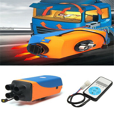 1PC 12V Diesel Air Heater 10L Tank Remote Control LCD For Car Truck Blue+Yellow