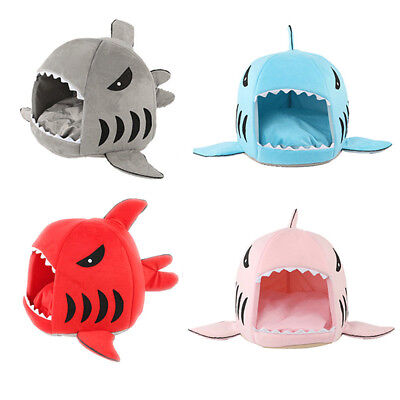 Shark Cat Dog House Bed Puppy Pet Bed & Cat Kennel Warm Comfortable Dog Supplies