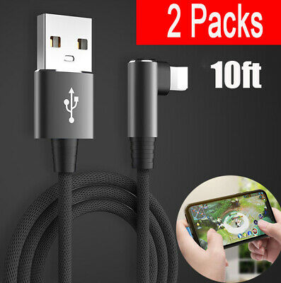 2 Pack 4 Ft Lightning Cable Heavy Duty i Phone X 8 7 6 5 Charger Charging Cord