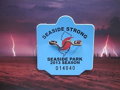 2013  Seaside  Park  New  Jersey  Seaside  Strong  Seasonal  Beach  Badge/tag