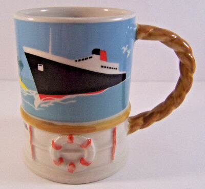 Vintage Dawn Princess Cruise Mug Sherwood England Porcelain Rope Handle Ship