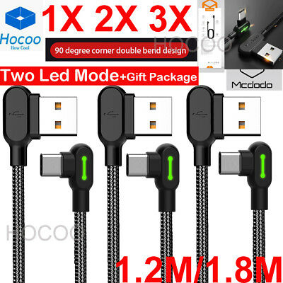 LOT 1X 2X 3X Braided Type-C USB-C Fast Charger Cable Cord  Long F Samsung Note 9