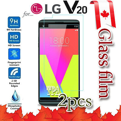 2x LG V20 Tempered Glass / Plastic Screen Protector Film Guard LCD Protector