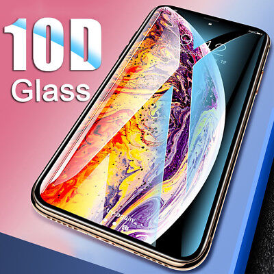 9H Screen Protector For iPhone XS Max Xr 5D Curved Temper Glass Film Protective