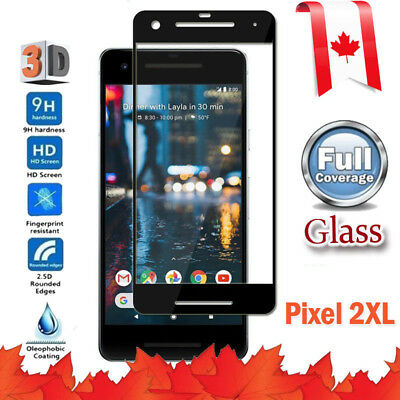 Full Coverage 3D Tempered Glass Screen Protector For Google Pixel 2 XL 2XL