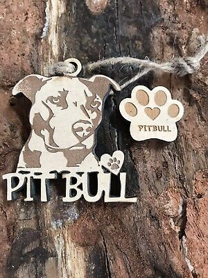 Pit Bull Christmas Ornament & 2 FREE MAGNETS