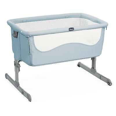 Culla Co-Sleeping Lettino Next2Me Next To Me Chicco Attacca Letto Ocean Azzurra