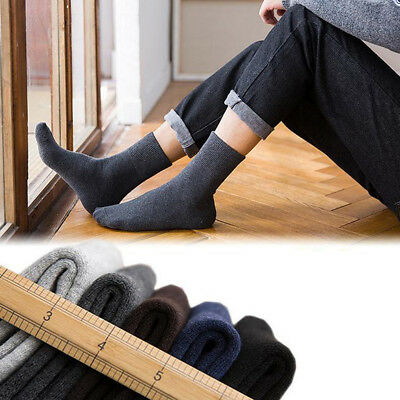10 Pairs 5 Colors Men Socks Thermal Casual Soft Cotton Sport Warm Sock Gift Set