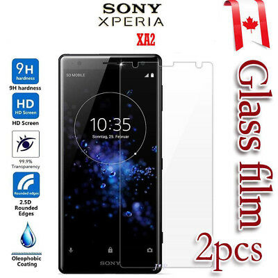2x Sony Xperia XA2 Tempered Glass Screen Protector Film Guard