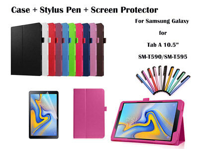 For Samsung Galaxy Tab A 10.5 Flip PU Leather Smart Case Cover T590 T595
