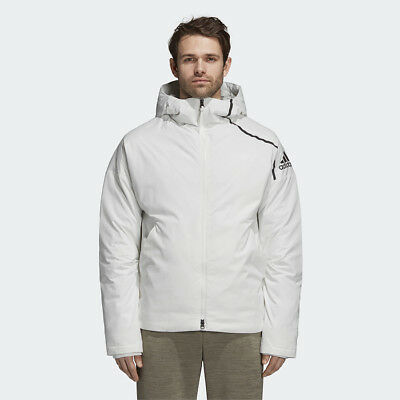 fd2c8141b8208 New Adidas Mens ZNE DUCK DOWN JACKET WHITE CY8617 PARKA PUFFER S - 2XL TAKSE
