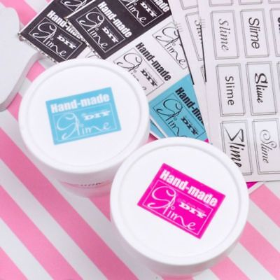 16pcs Stickers Decal Lables For Slime Container Box Supplies Handmade DIY Crafts