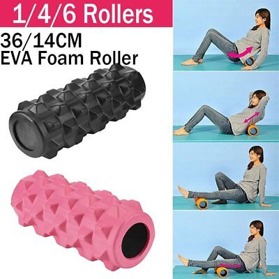 Foam Roller Grid EVA 33x14cm Physio Pilates Yoga Gym Exercise Trigger Point NP