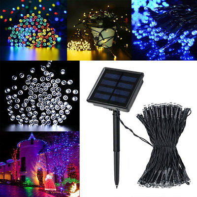 200 LED Solar Power String Fairy Light Garden Christmas Outdoor Party Decor USA