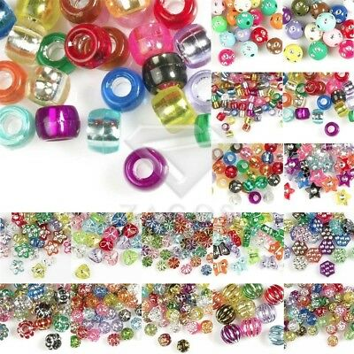 16 Styles Acrylic Beads Foil Spacer DIY Bracelet Necklace Jewellery Making Mixed