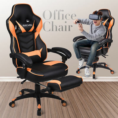 Ergonomic Computer Gaming Chair Racing Recliner Adjustable Office Seat Footrest
