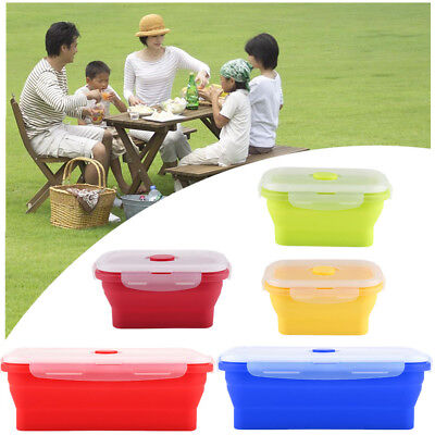350 /1200ml Silicone Food Lunch Box Bowl Bento Boxes Folding Collapsible Storage