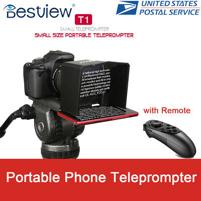 Bestview T1 Portable Phone Teleprompter for Interview Speech Video Teaching