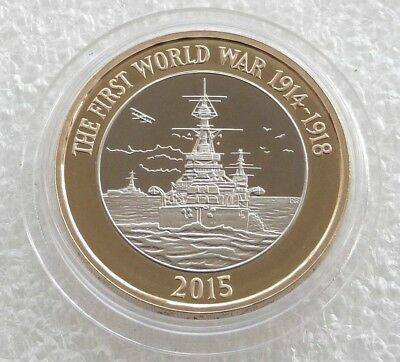 £2 Pound 2015 Royal Navy WW1 HMS Belfast  circulated Coin