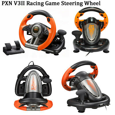 PS3 PS4 Xbox One Window PC PXN V3II Steering Wheel Racing Game with Brake Pedal