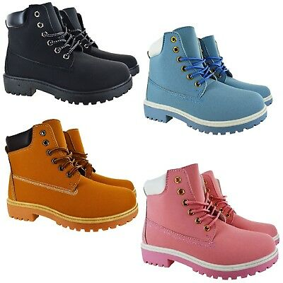 Womens Walking Comfort Hiking Ankle Designer Style Boots Ladies Trainer Shoes Sz