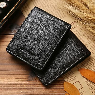 Cowhide Genuine Leather Money Holder Wallet Men's Coin Pouch Slim Wallet Clip