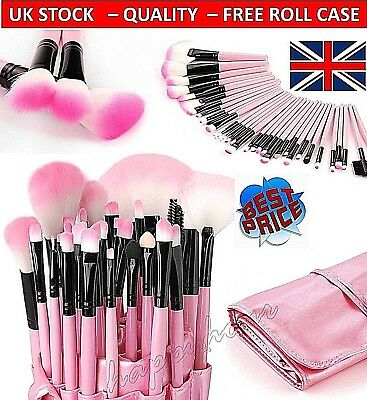 32 Piece Professional Make Up Brush Set Foundation Brushes Kabuki⭐️Free Bag