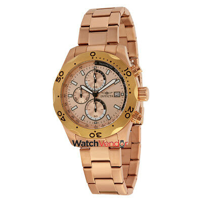 Invicta Specialty Chronograph Rose Dial Rose Gold Ion-plated Men's Watch 17755