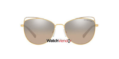 91c587b972f Michael Kors St. Lucia Silver Khaki Cat Eye Ladies Sunglasses MK1035 12128Z  55