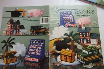 Piggy Bank & Savings Banks Plastic Canvas Pattern Book 7 easy projects to make
