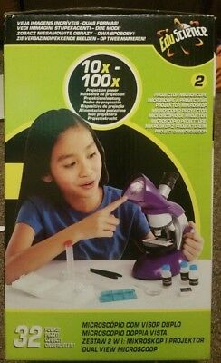 Children/'s Kids Microscope Science Lab Set with Light Education Toy Gifts N5D6Y