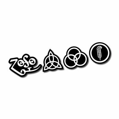 Led Zeppelin ZoSo Sticker / Decal - Rock Band Music CD Album Car Laptop Classic
