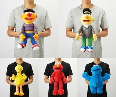 Kaws Sesame Street X UNIQLO Plush Doll  Ernie Bert Elmo Cookie Monster Big Bird
