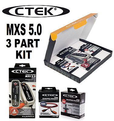 CTEK 40-314 Battery Charger and Maintainer-MXS 5.0 Value Pack