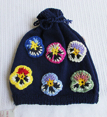 The Spindle Tree Craft Co-Op Hand Knitted Wool Medium Knit Tea Cosy Rosettes