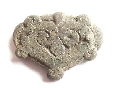Ancient CELTIC Bronze Amulet / Talisman - Druid Symbols > INTERTWINED SNAKES