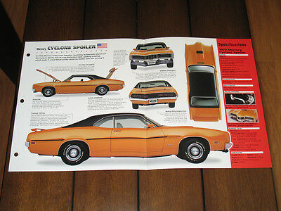 Brochure 1970 Mercury Cyclone Spoiler Vintage Classic Car Old Cougar Boss Ford