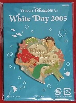 TOKYO DISNEY SEA Limited Pin Ariel White Day 2005 From Japan NEW