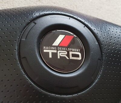toyota trd celica, mr2, supra steering domed wheel badge