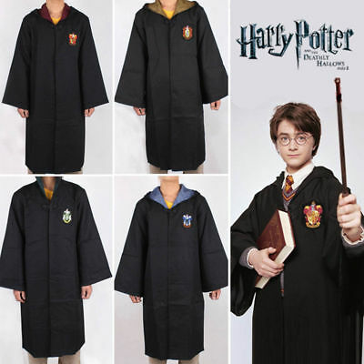 Womens Mens Harry Potter Christmas Cosplay Tie Scarf Robe Fancy Dress Costume