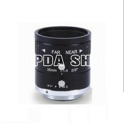 "1PC WLS WL1425-2M 2/3"" 2Megapixel F1.4 25mm industrial camera Lens#SS"