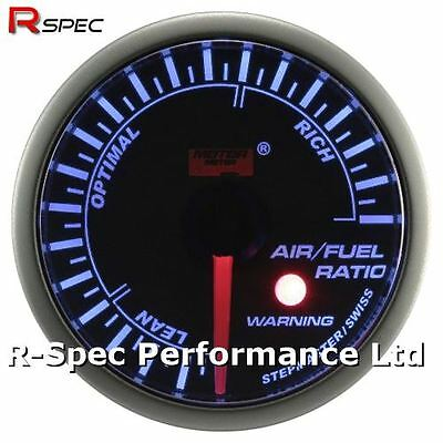 52mm Blue Stepper Motor Warning AFR Air / Fuel Ratio Gauge With Warning Light