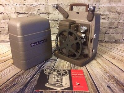 Bell and Howell Vintage Monterey 8MM Reel to Reel Movie Projector With Manual