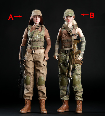 1:6 Scale Soldier Female Clothing Tactical Army Military Combat Suit Set 2 Style