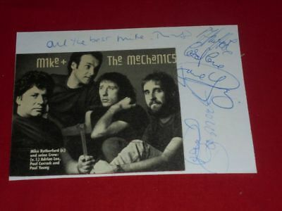 Mike and the Mechanics - Autographs - signiert - Autogramme - signed -