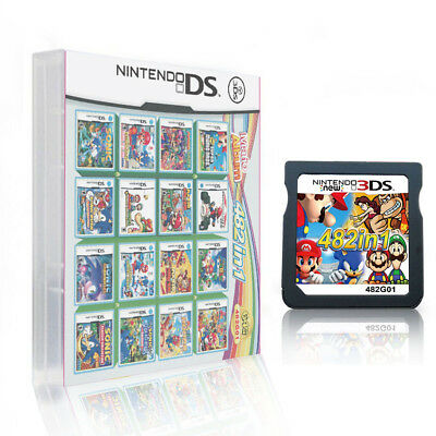 482 in 1 Game Cartridge for NDS NDSL 2DS 3DS NDSI  Video Game Card Xmas Gift