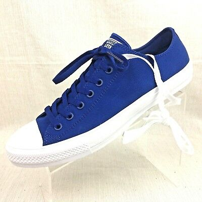 CONVERSE Chuck Taylor II All Star CT II OX Sneakers Sodalite Blue size  11-11.5 212335622