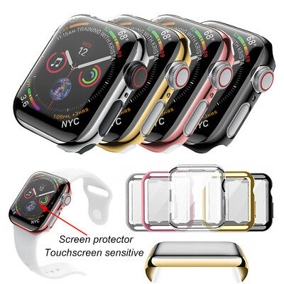Hard PC Clear Slim Case Screen protector Full Cover For Apple Watch Series 4 NEW