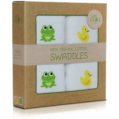 Organic Swaddling Blankets Cotton Muslin 47-by-47-Inch Swaddle Blankets, Pack Of